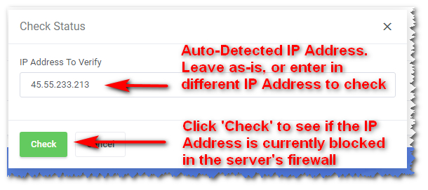 Unblock an IP Address - Knowledgebase - QTH com, Inc