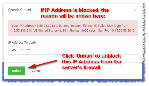 IP Address is Blocked